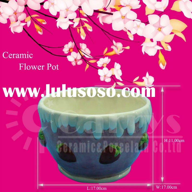 ceramic cupcake flower pot