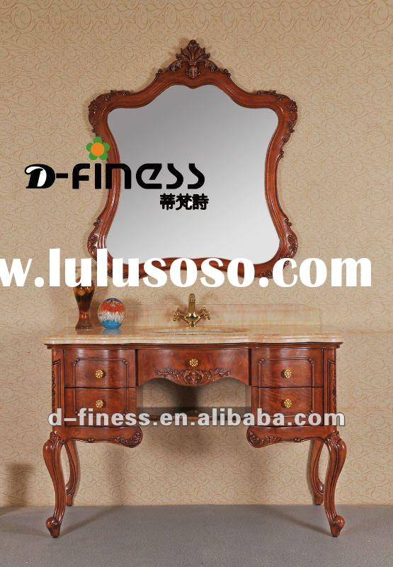 classcial style solid wood bath cabinet