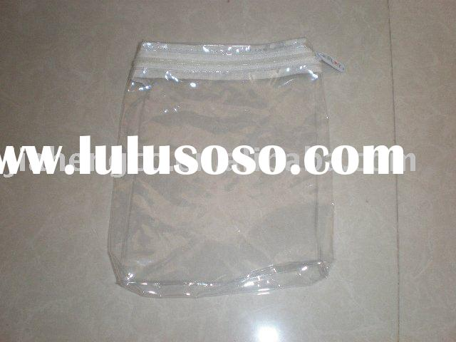 clear PVC small plastic bag with zipper