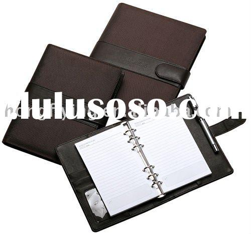 commercial leather spiral bound notebook cover with snap