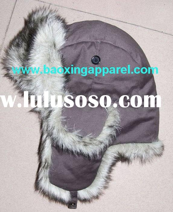 cotton faux fur Ushanka hat