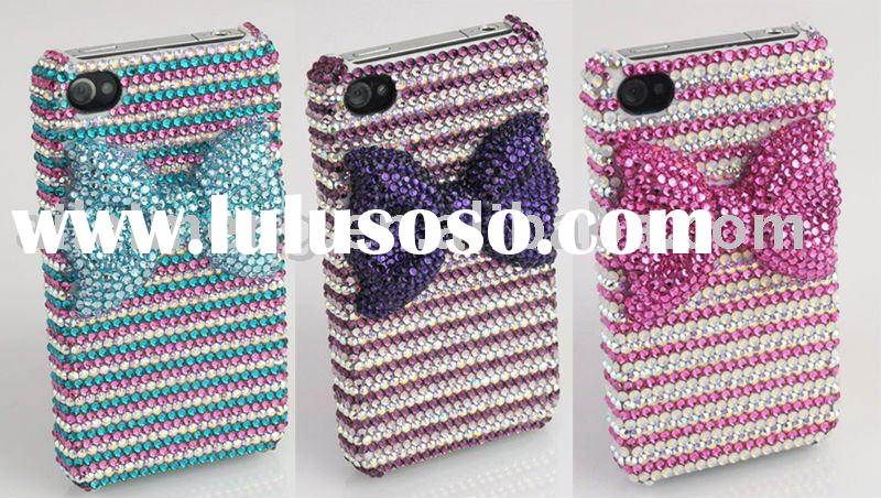 crystal bling phone case for iPhone 4 (4G-KTJ14) Paypal