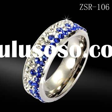 crystal jewelry, stainless steel ring