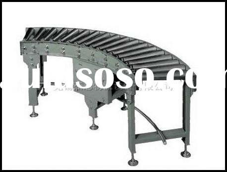 curved single chain driving roller conveyor system