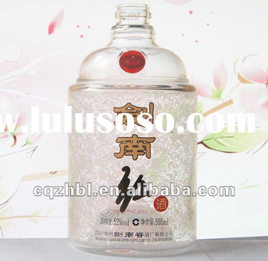 decal wholesale wine empty glass bottle for chinese spirits 500ml
