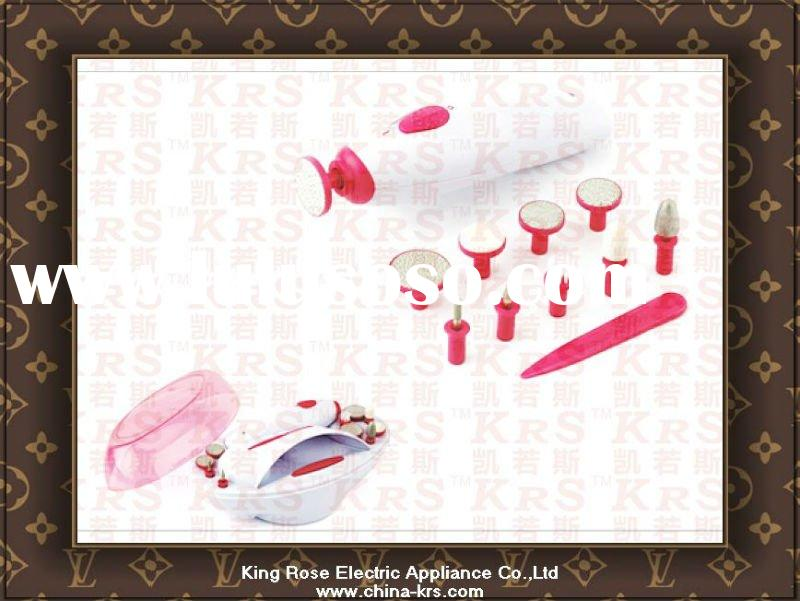 electric Manicure pedicure set with UV lamp and nail dryer