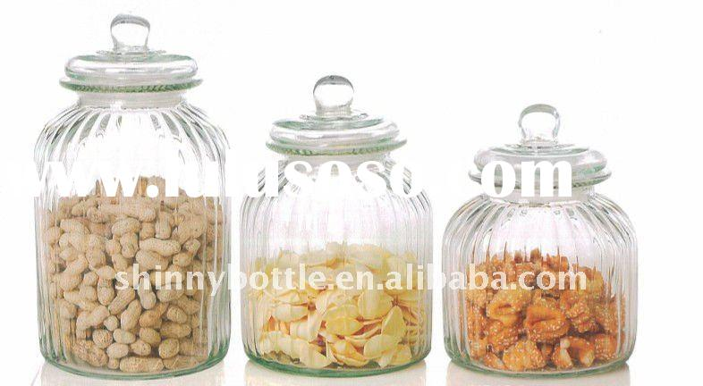 fancy candy Glass Jar with lid