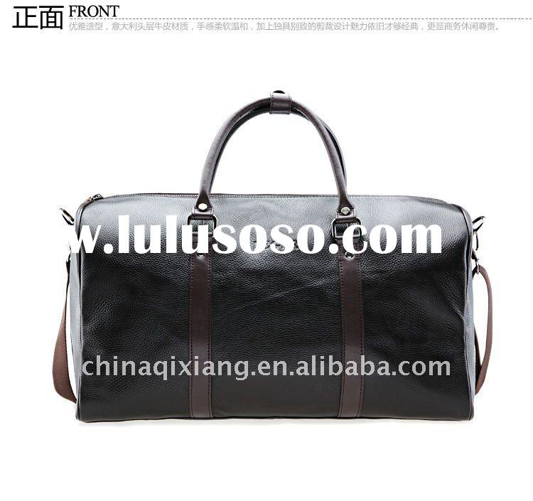 fashion genuine leather business travel bags