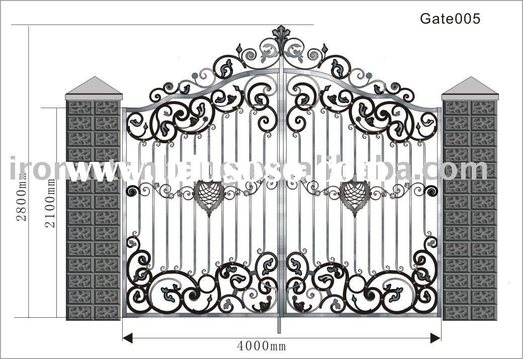 forged iron door,steel gate,cast iron gate