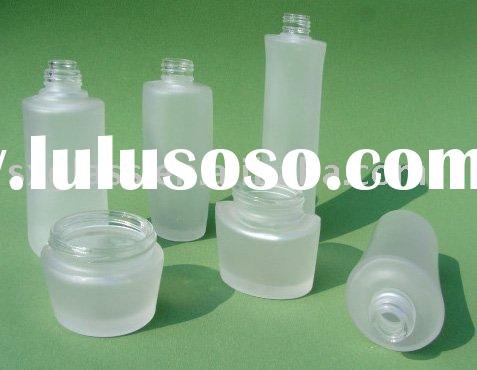 frosted glass cosmetic bottles