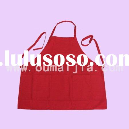 full length apron with pocket/best cover-up apron/pocket butcher apron