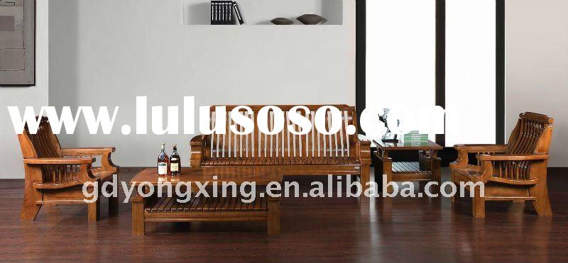 full solid wood sofa set with tea table 212#
