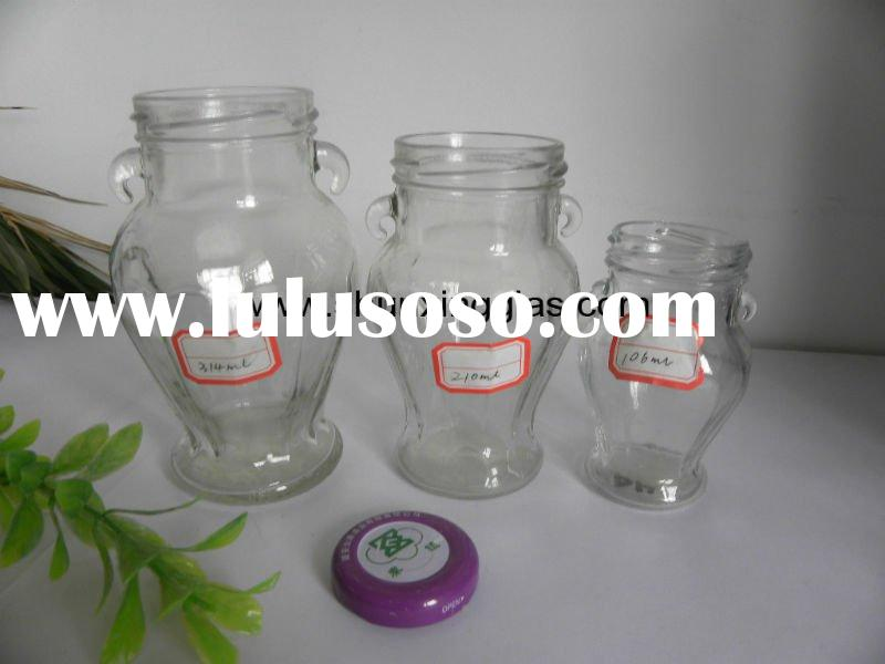 glass jam jar of same shape