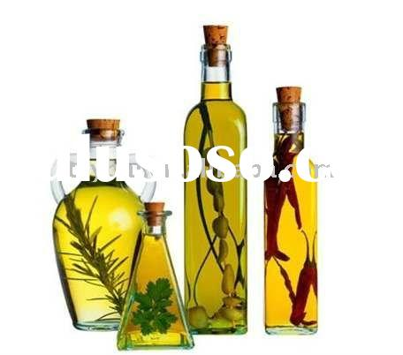 glass olive oil bottle with cork