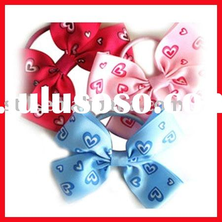hair tie with ribbon bow