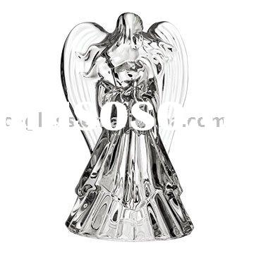 hand press angel glass candle holder/tea-light candle holder/tealight holder/t-light holder