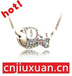 handmade fashion crystal necklace
