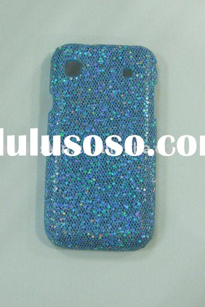 hard bling diamond TPU gel wood wallet leather silicon skin cover case for samsung Galaxy s i9000