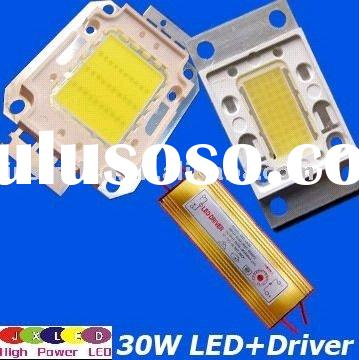 high power led chip and 36V 30w led driver