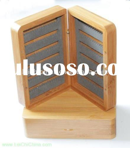 high quality wooden bamboo fly fishing box