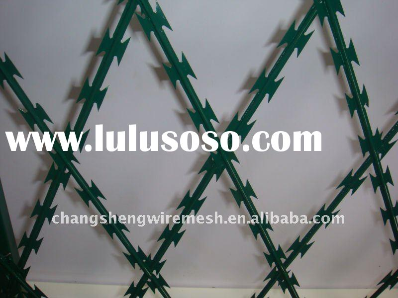 hot dipped galvanized Razor barbed wire fence
