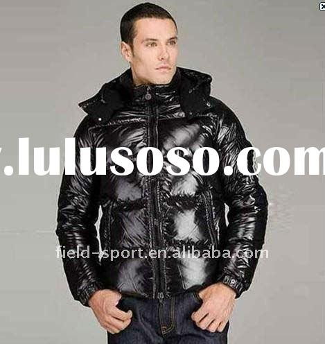 hot selling new arrival European high quality black Men's down coat jacket with hood
