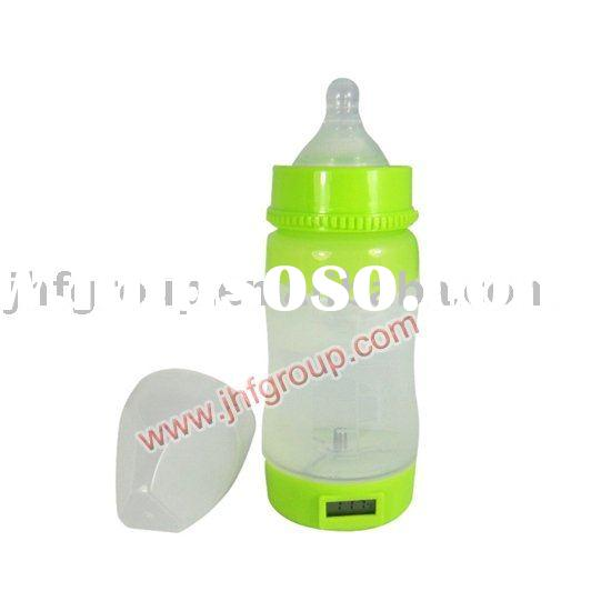 hot silicone baby feeding bottle with temperature display