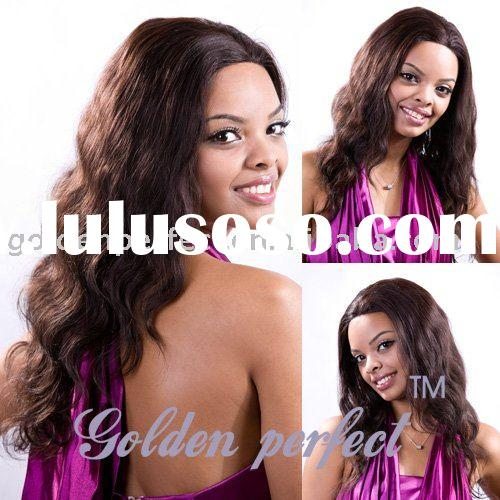 human hair front lace wig fashion design