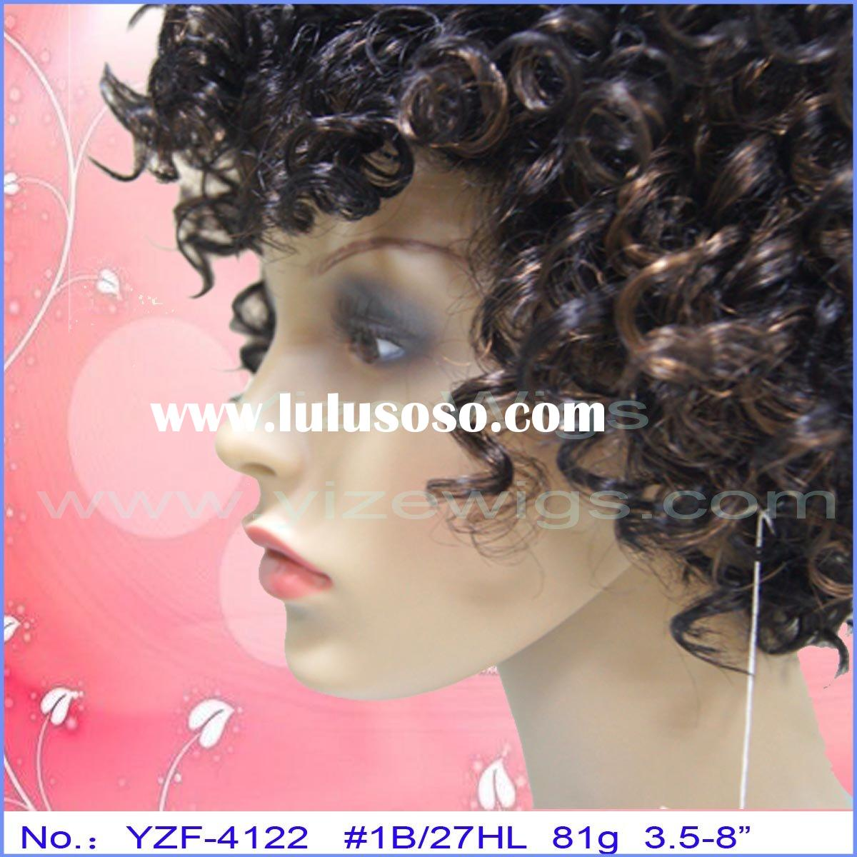 jerry curl short full hair wig new style YZF-4122