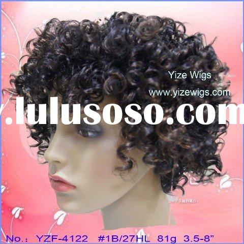 jerry curl short lace front wig new style YZF-4122