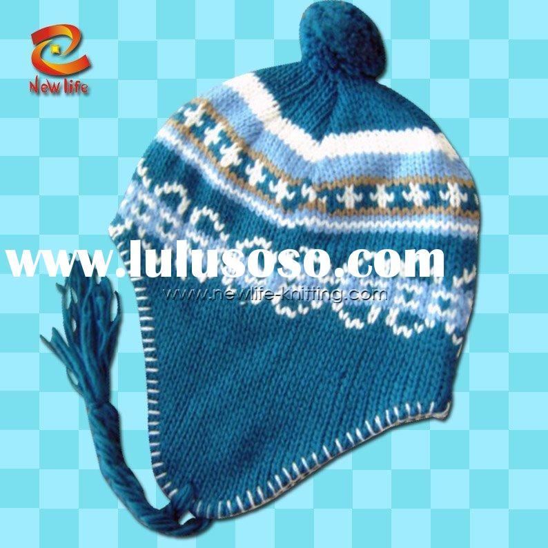 Loom Knit Baby Hat With Ear Flaps : Knit pattern for hat with earflaps long loom knitting