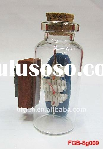 latest glass bottle with boat/with shell /with sand art
