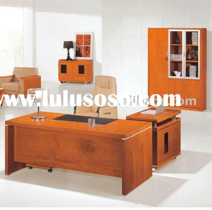 luxury 2011 new wooden office furniture table: cherry color modern desk