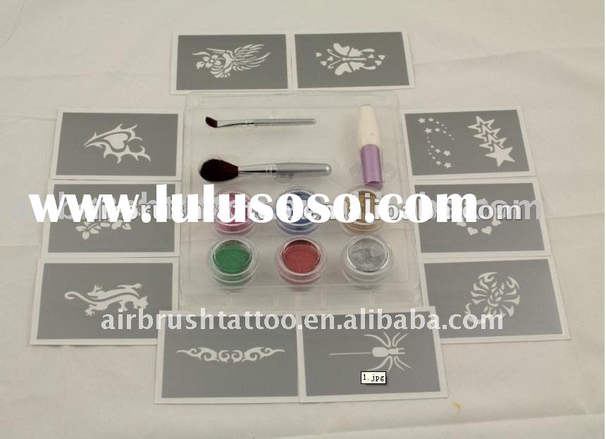 nice designs glitter tattoo stencil