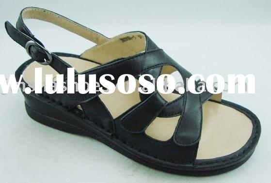 old ladies leather sandals