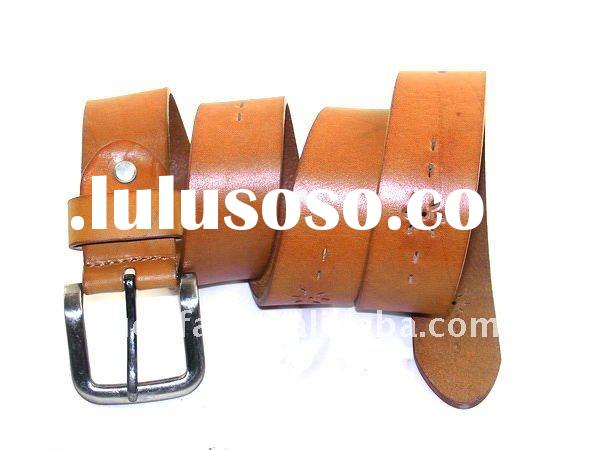 orange High quality genuine leather belt, fashion lady belt