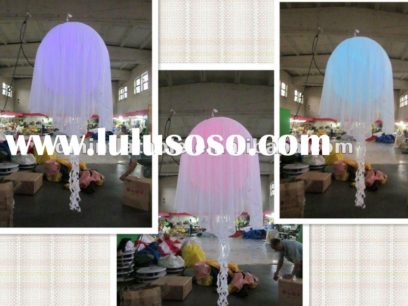 party/event led light inflatable jellyfish ball