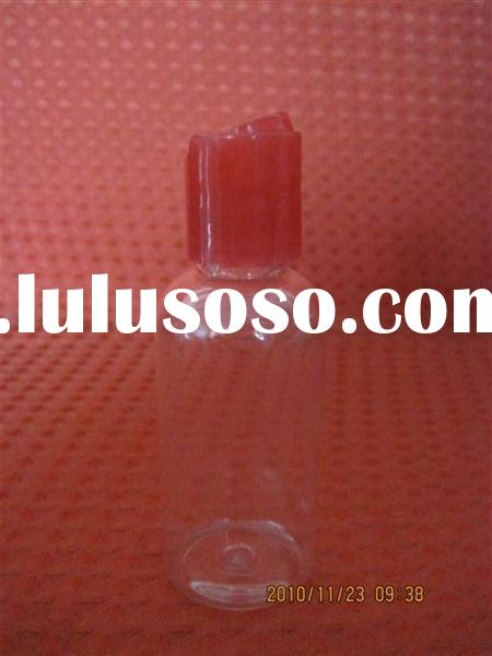 pe clear cosmetic oil bottle
