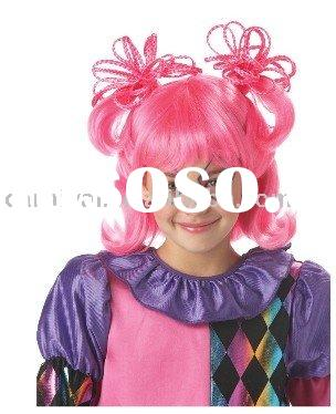 pink cutie clown costume wig bshw-1548