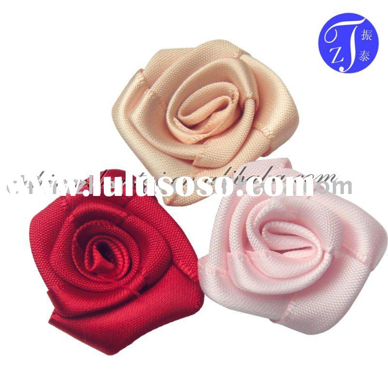 polyester satin ribbon flowers