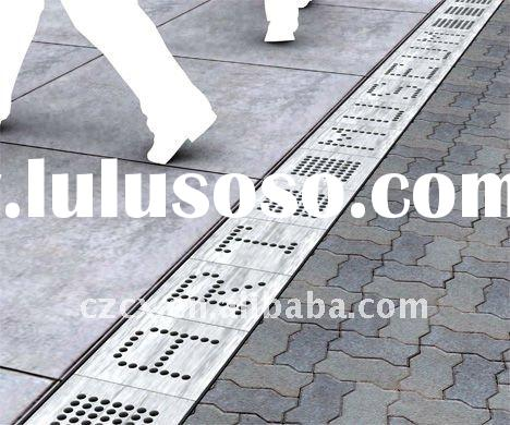 polymer concrete drain trench drainage steel bar grating cover