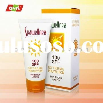 private label skin care organic Sun Block Lotion SPF 100