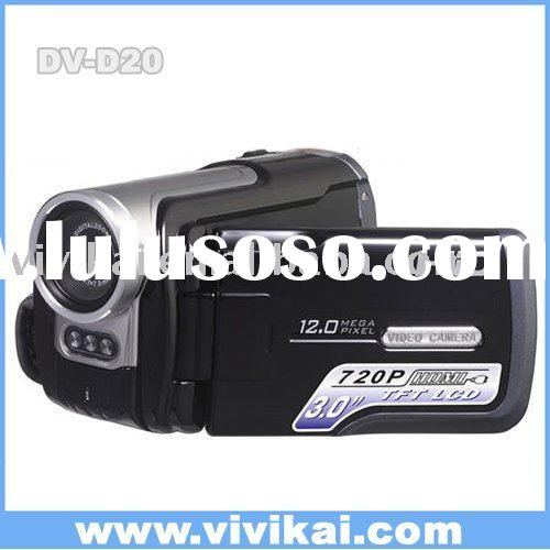 professional video camera with 4X Digital Zoom, 2X advance zoom&Audio Record&PC Camera&L
