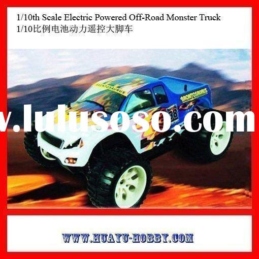 rc model hot selling car 1/10th Scale Electric Powered Off-Road Monster Truck AHY000395 (EC-94111)