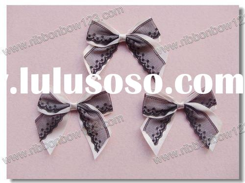 ribbon bow_pre-made bow for underwear bra