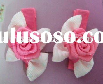 ribbon bows/flower ribbon bows/hair bow for girl