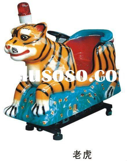 rider ride on toy tiger shape with LED light kiddie riders Power rider playground equipment ride on