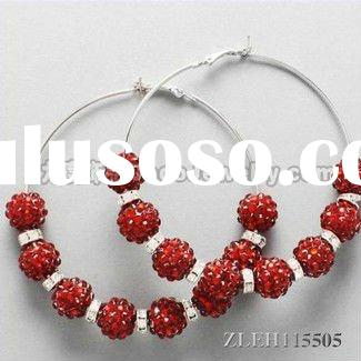 round hoop basketball wives earrings 2012