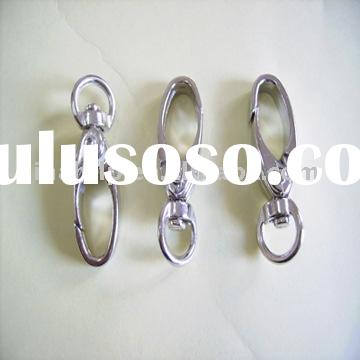 shiny silver metal snap strap buckle hook