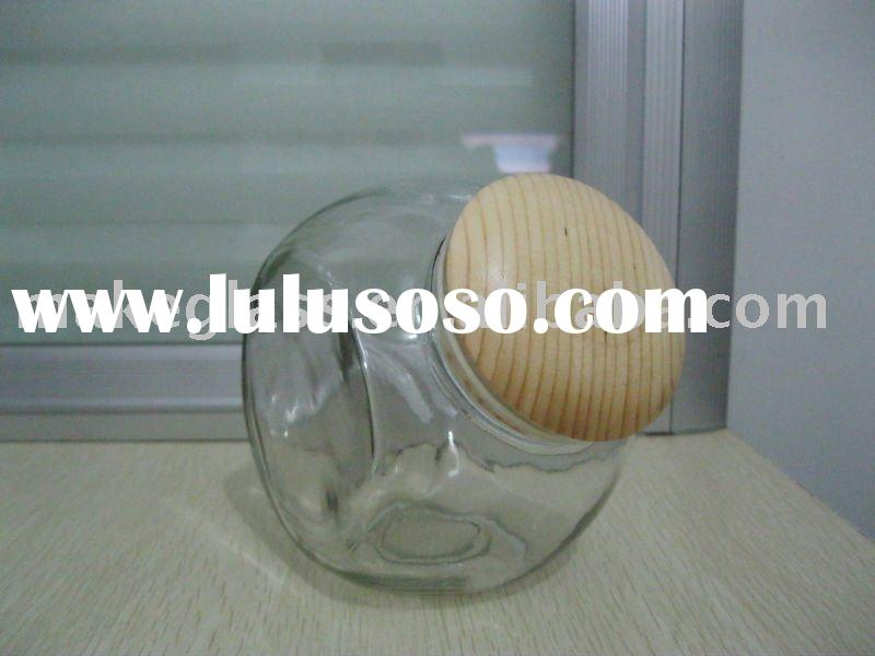 small glass jar for food/candy